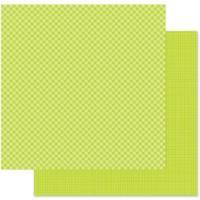 Doodlebug Paper 12x12 Gingham Linen Citrus
