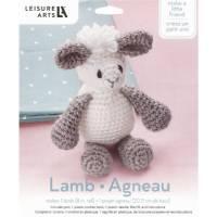 Leisure Arts Little Crochet Friend Kit Sm Lamb